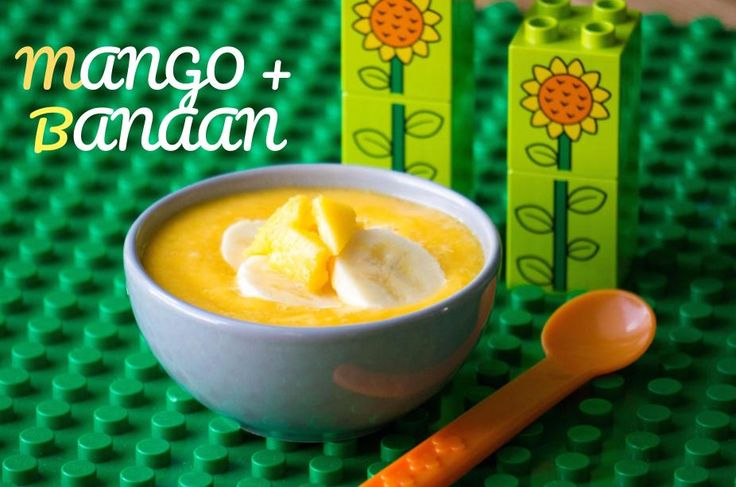 Begint jouw baby metbabyvoeding dan is de combinatie mango en banaan perfect voor oefenhapje. De smaken tropische smaken passen goed bij elkaar.