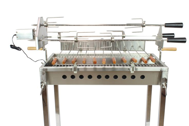 Cyprus Grill / Souvla - Stainless Steel Charcoal Rotisserie Spit Package Deal (CG-0707)