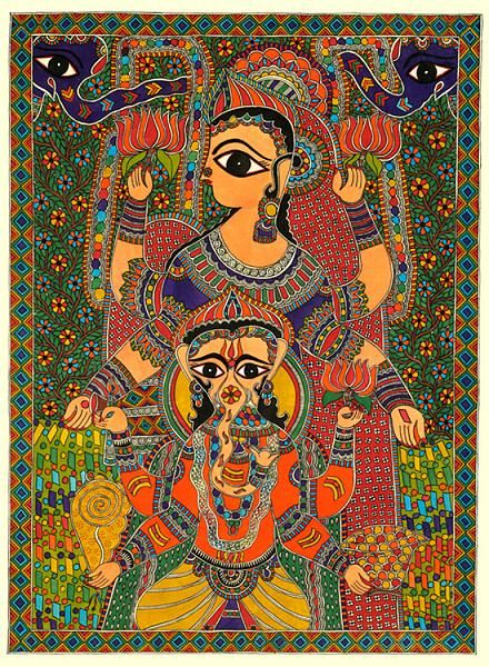 Indian Painting Styles...Madhubani/Mithila  Painting (Bihar)-ganeshamadhubani1-8-.jpg