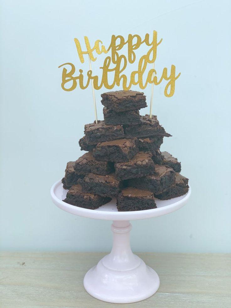 19++ Brownie birthday cake stack trends