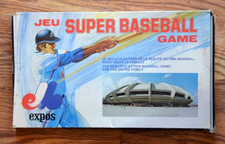 RARE 1979 Montreal Expos Game with Box JEU Super Baseball Game Complete Canada