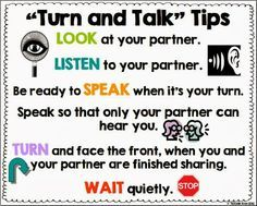 Improve the quality of partner talk in your classroom with this Turn and Talk Tips poster. Freebie!