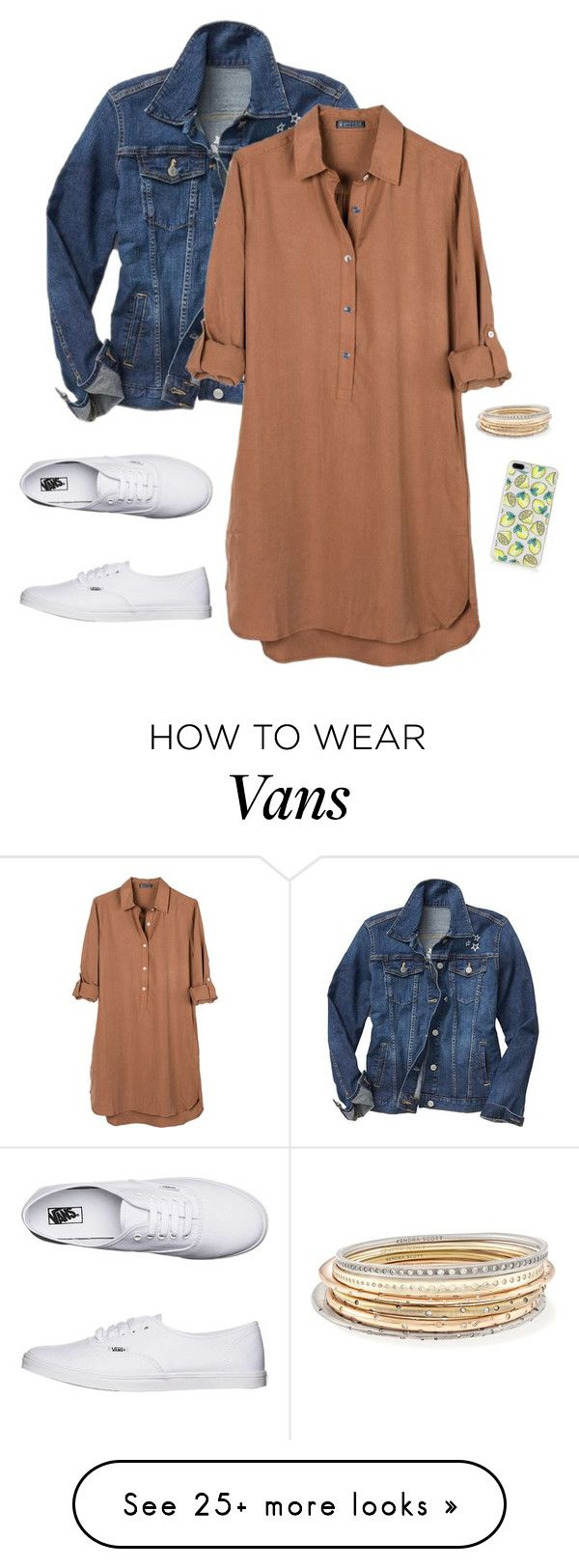 """""""Untitled #343"""" by emma-2076 on Polyvore featuring Gap, United by Blue, Vans and Kendra Scott"""