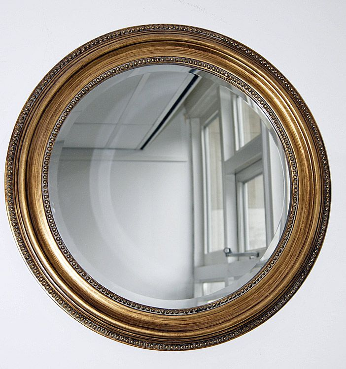 Miroir rond classique cadre dor antique typical for Miroir in english