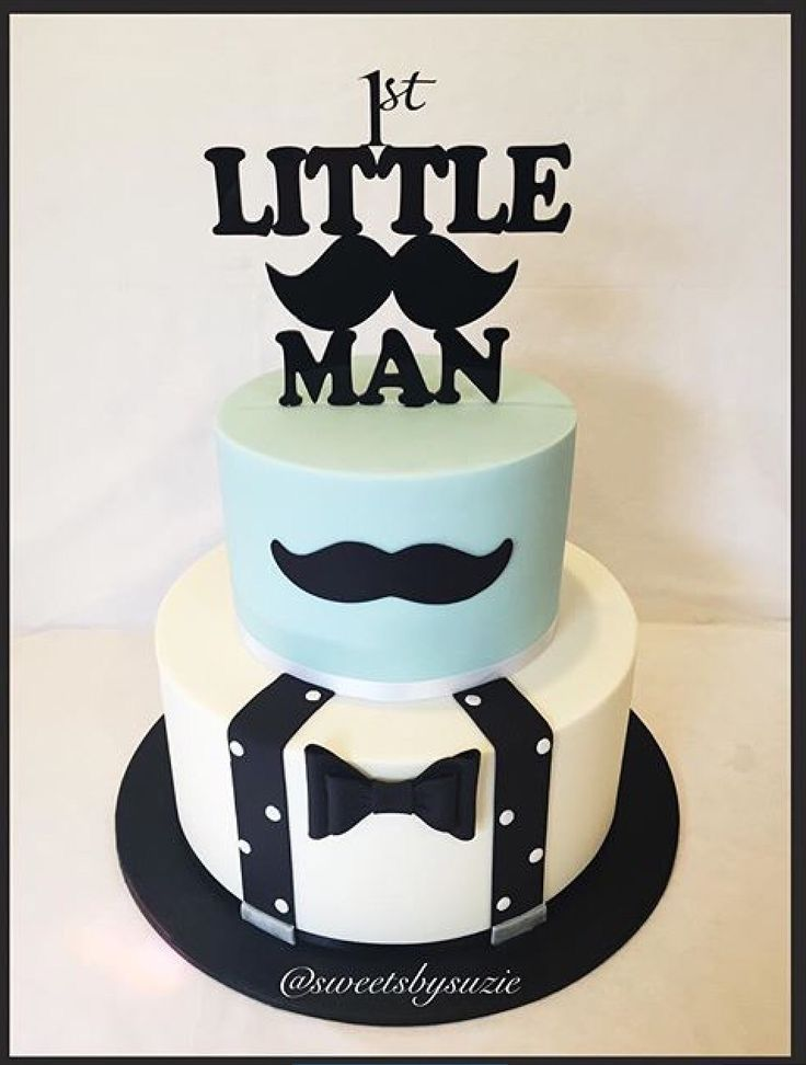 Little man 1st moustache birthday cake made by Sweetsbysuzie in Melbourne