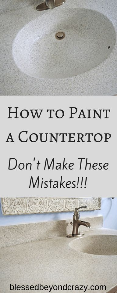 Before you paint a countertop make sure you don't make these mistakes! This post contains affiliate links.  Once upon a time, we had an outdated bathroom vanity. We painted our bathroom a light blue color and got a new mirror, which looks awesome! But now our vanity looked even more outdated! And clashed with the …
