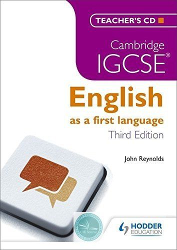 9781444191691, Cambridge IGCSE English First Language Teacher's CD 3ed - CIE SOURCE