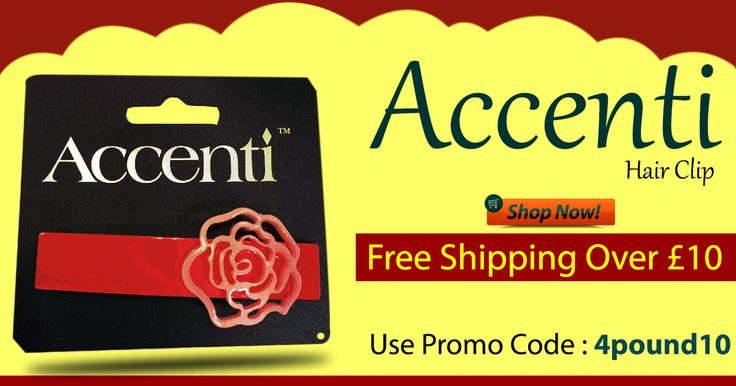 Buy Accenti Red Flower Hair Clip at amazing price online #4pound FLAT 10% Off on entire store. Hurry! Buy Now : http://www.4pound.co.uk/accenti