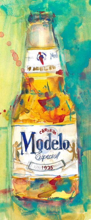 Modelo Especial Beer  Mexico Print Size  8.5 x. 11 by dfrdesign