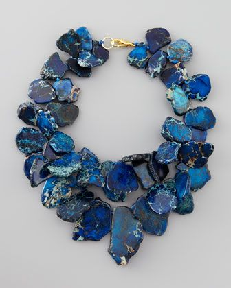 Clustered Blue Jasper Necklace by Nest @ Neiman Marcus  ::love the blue hues::