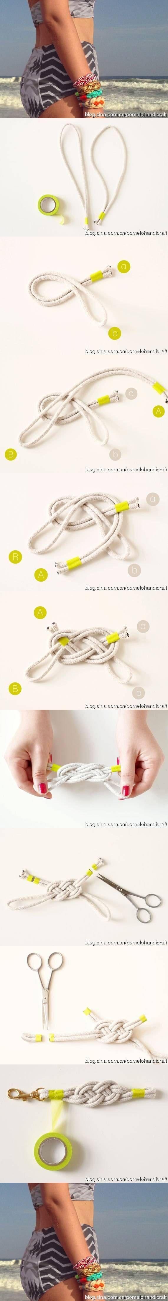 DIY Knot Bracelets How to
