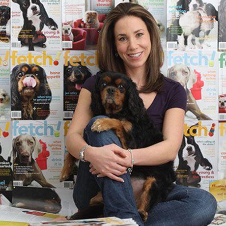 Natasha Ashton, The Right Brain (AKA Petplan pet insurance Co-Founder, Co-CEO and Chief Marketing Officer) with Wellington the Cavalier King Charles Spaniel