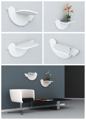 bird wing shelf, would look so neat w/a tree painted on the wall in a kids room