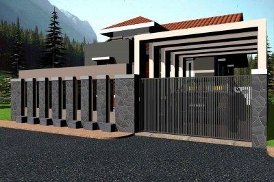 model pagar rumah sederhana minimalis