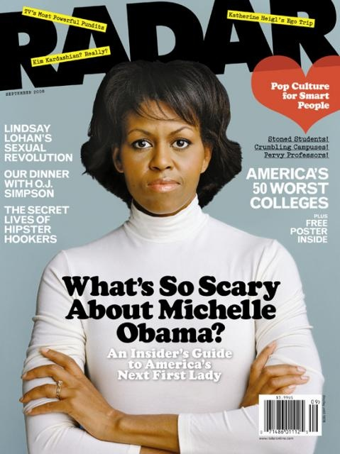 Michelle Obama... Angry black woman!   ... have to say I'm not sure if she makes me sad or scares me or both