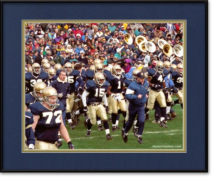For the Bar: Lou Holtz Leading Notre Dame Football Team onto Field | View more @ HorschGallery.com