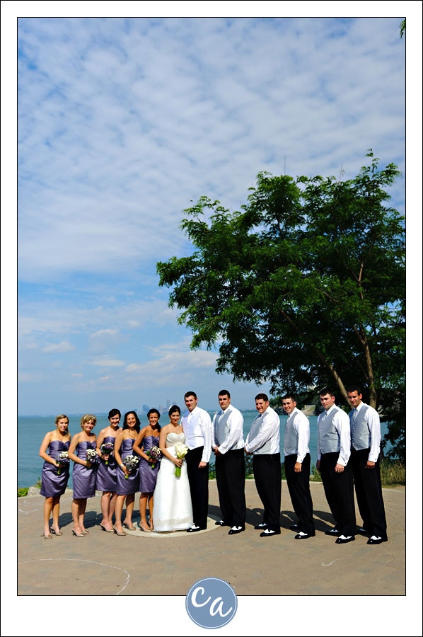 Purple Bridal Party At Lakewood Park In Lakewood Ohio Free To Use Park
