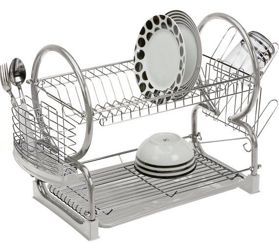 What are the pros and cons of an oversized dish drainer?