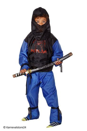 Blauw Ninja pak voor kinderen #ninja #ninjapak #ninjakostuum