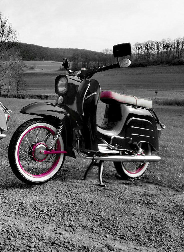 Simson Schwalbe schwarz pink