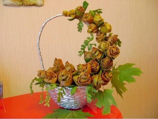 Сделать цветы из природного материала своими руками
