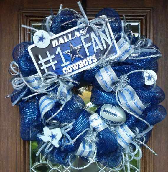 Hey, I found this really awesome Etsy listing at https://www.etsy.com/listing/105823152/deco-mesh-dallas-cowboys-wreath