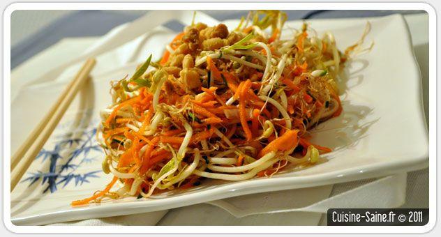 Recette graines germées : salade de pousse de soja