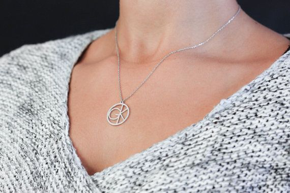 Custom Initial Necklace Personalized Family Initial Necklace