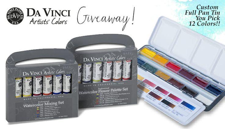Da Vinci Paint Co. December Watercolor Giveaway!