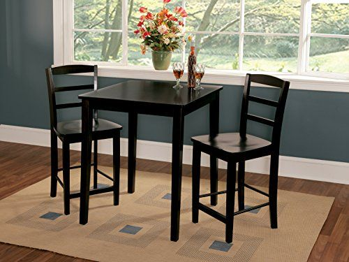 30 Inch Kitchen Table International concepts 30 by 30 inch gathering height table with 2 international concepts 30 by 30 inch gathering height table with 2 madrid stools set of 3 home staging pinterest stools kitchen design and kitchens workwithnaturefo