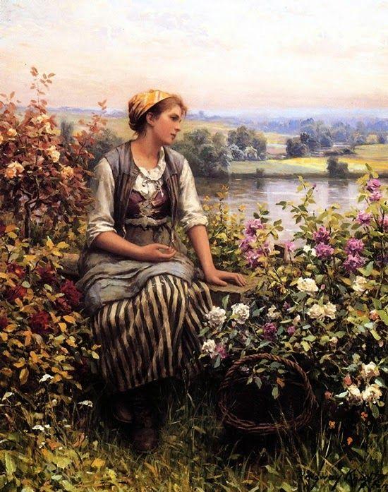 ~ Daniel Ridgway Knight ~ American artist, 1839-1924: Daydreaming