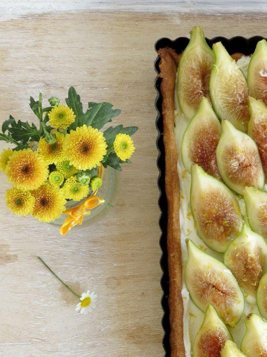 tarte de figos e ricotta