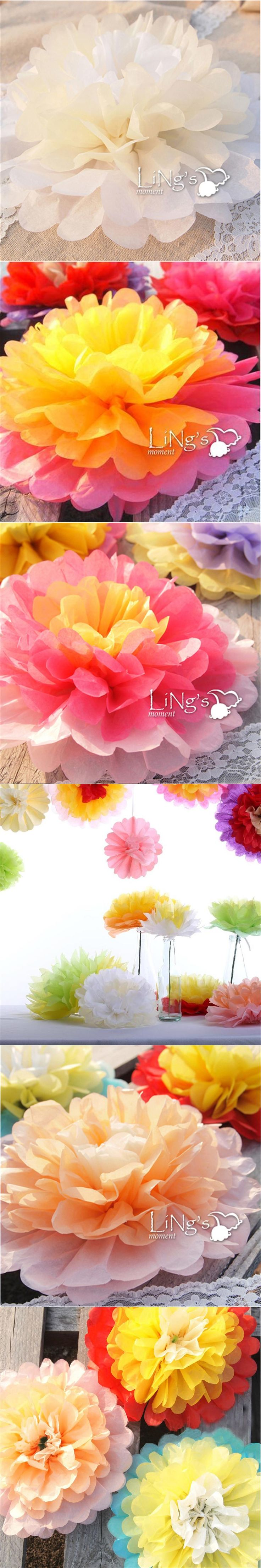 10inch(25cm) 5pieces/Lot Giant Tissue Paper Flower Rose