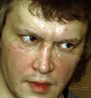 Alexander Pichushkin  This vicious and cruel evil minded killer, killed 48 people, most of which were elderly homeless men in Southwest Moscow's Bitsa Park. He found pleasure in killing and killed in competition with Russia's most notorious serial killer, Andrei Chikatilo, who was convicted in 1992 of killing 52 children and young women in 12 years.