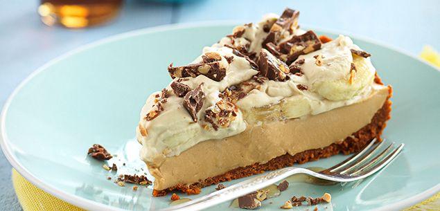 Banana sour cream pie with coffee cream recipe