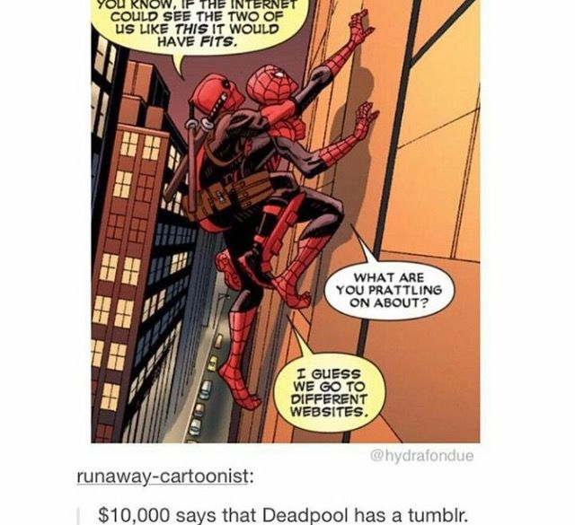 Deadpool is tumblr