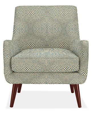 Just like this fabric! Not really the chair.       Quinn Chair & Ottoman in Mirror Fabric - Chairs - Living - Room & Board