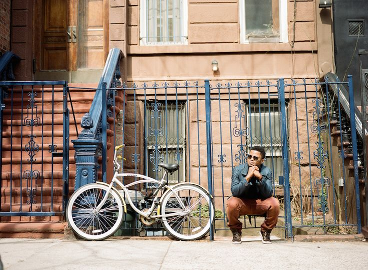 Faces of Harlem /// Zachée Zisch  Photography // Ilene Squires Photography  #harlem #nyc #bicycle #gate #glasses #portrait