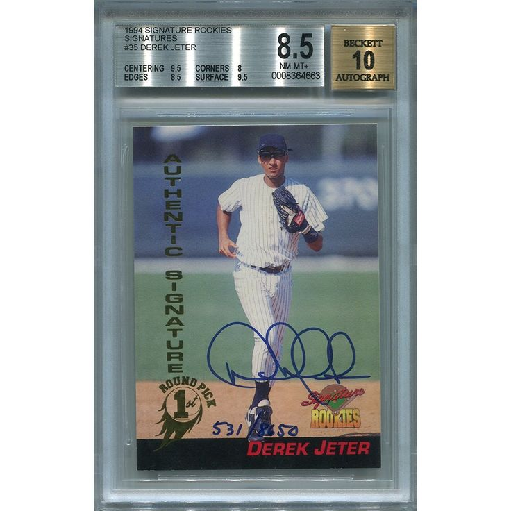 Derek Jeter New York Yankees BGS Certified Authentic Autograph - 1994 Signature Rookies (Autographed Baseball Cards)         *** Read more reviews of the product by visiting the link on the image. (This is an affiliate link) #SportsCollectibles