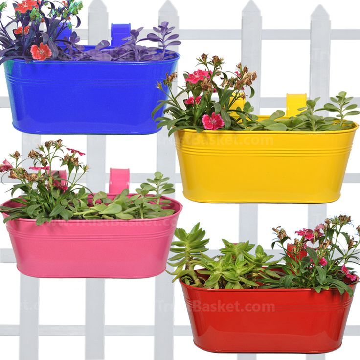 Best Oval Railing Planters Magenta Blue Red And Yellow 400 x 300
