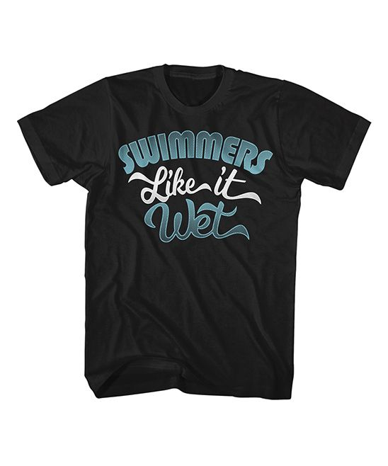 Black 'Like It Wet' Tee - Men's Big & Tall