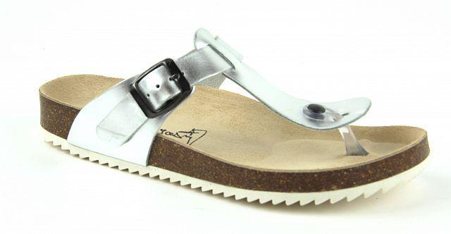 078da6cc84c Zdravotní obuv Jasný zdravotní žabky stříbrné 2157