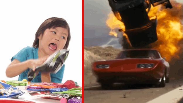 """And the """"whack whack whack whack"""" of cars blowing up in Fast & Furious 6? Come on now, that was child's play. 