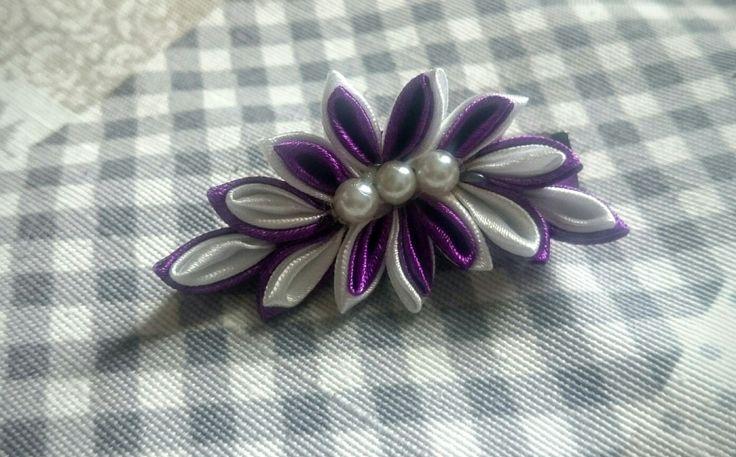 Clip capelli accessori personalizzati kanzashi flowers
