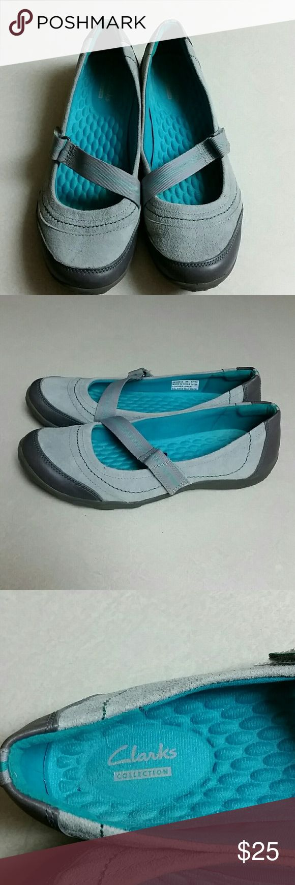 Clark shoes Turquoise blue/ash grey Clark shoes Clarks Shoes Flats & Loafers