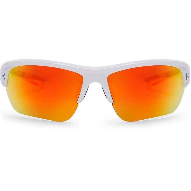 Under Armour Shiny White UA Octane With Orange Mirror Lens