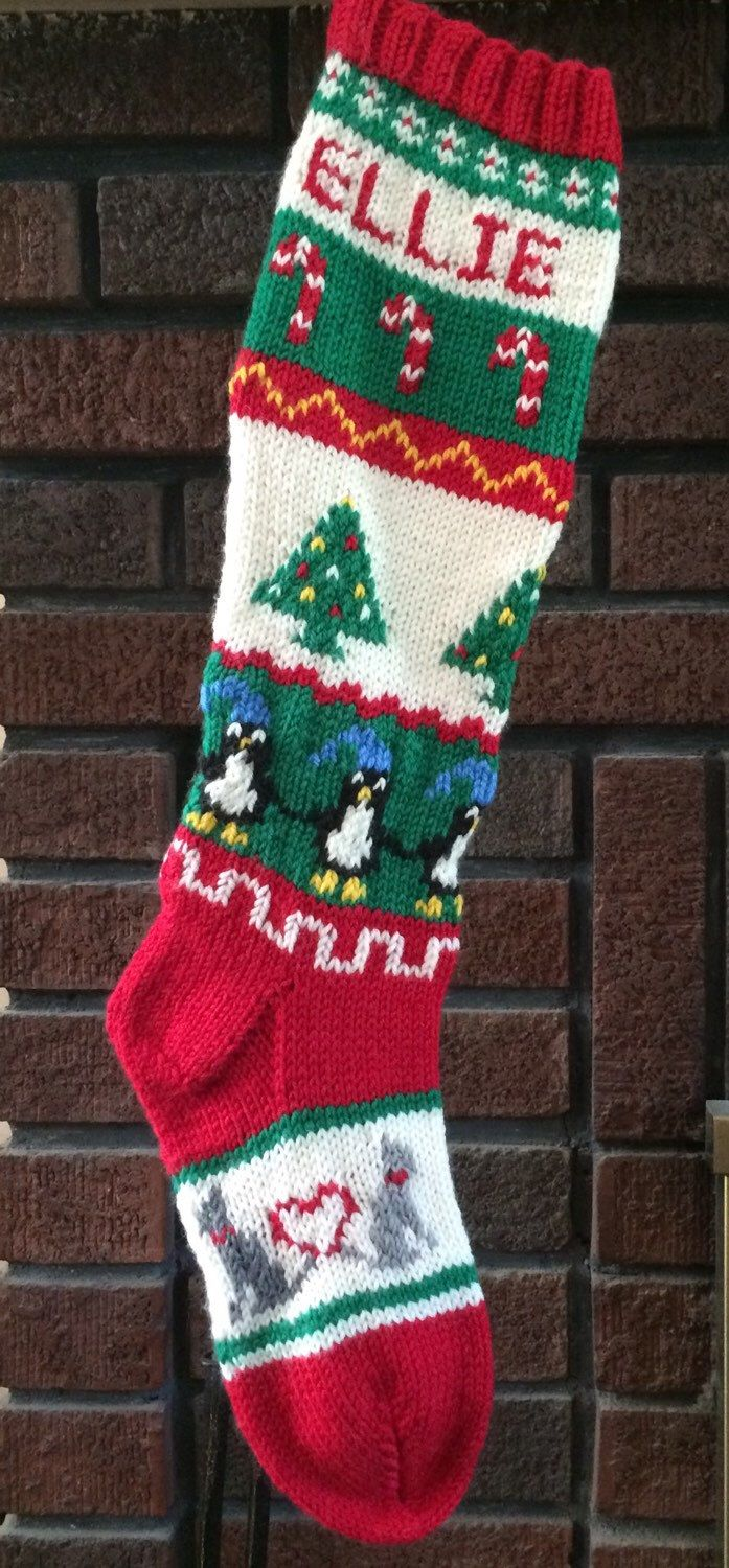 203 best knit christmas stockings images on pinterest knitted vintage style fair isle christmas stocking original design hand knit personalized 100 pure wool bankloansurffo Choice Image