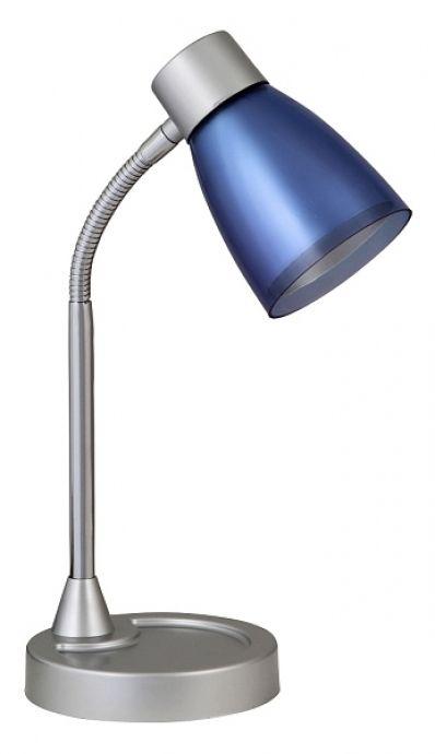 lampa de birou BRUNO 4267 gri-albastra cu gat flexibil marca RabaLux