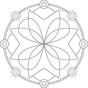 Mandala für Senioren zum Ausdrucken und Ausmalen                              …