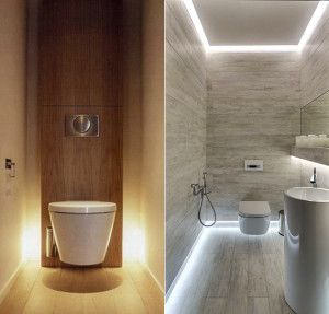 bad modern designed with licht_kleines bathroom ideas with indirect ground and deckenbeleuchtung - Deckenbeleuchtung Bad